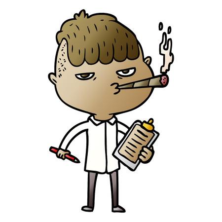 漫画のセールスマン喫煙