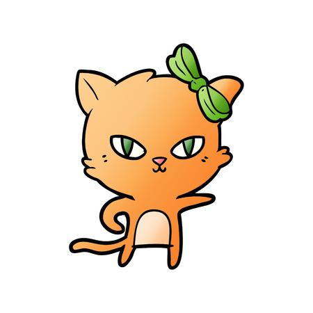 cute cartoon cat Vector illustration. Illustration