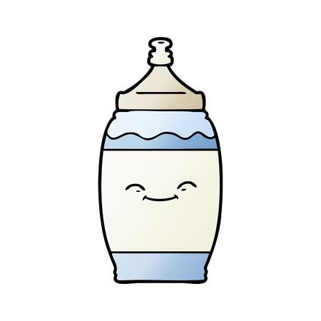 cartoon happy water bottle Stock Vector - 95582579