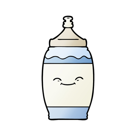 cartoon happy water bottle Illustration