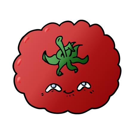 cartoon tomato Vector illustration. Ilustrace