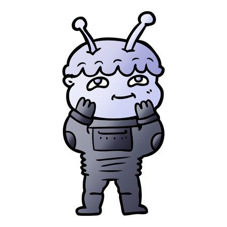 surprised cartoon spaceman