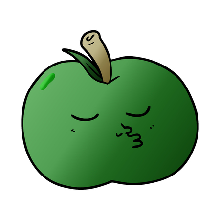 cartoon high quality apple Vector illustration.