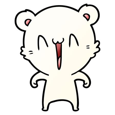 happy polar bear cartoon 일러스트