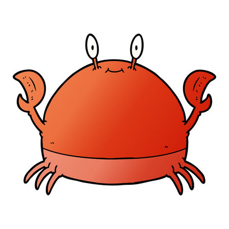 cartoon crab Vector illustration isolated on white background. Stock Illustratie