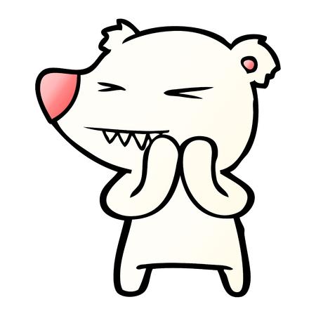 angry polar bear cartoon Stock Vector - 95578971