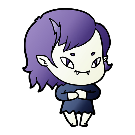 cartoon friendly vampire girl