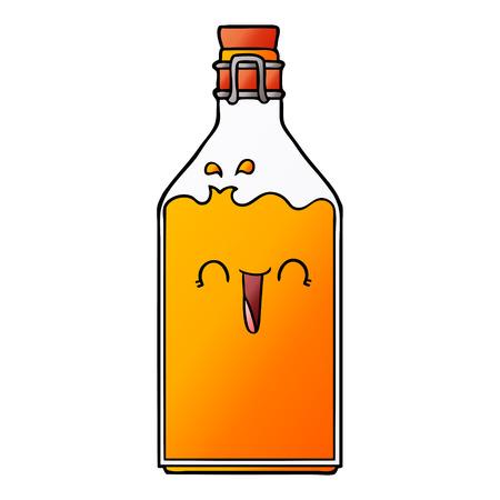 cartoon old juice bottle
