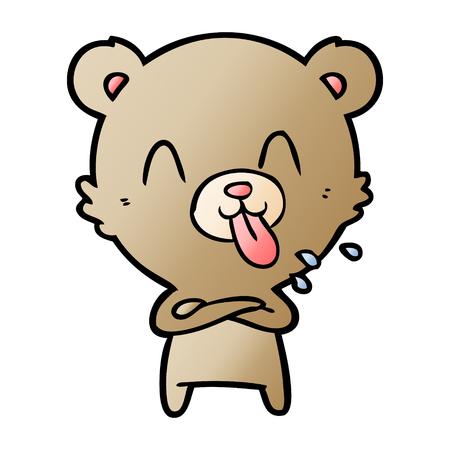 rude cartoon bear Vector illustration. 스톡 콘텐츠 - 95551977