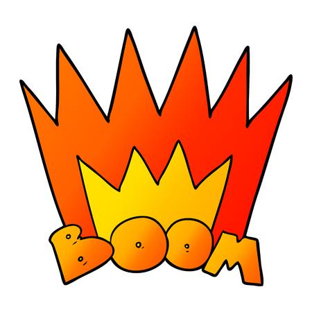 cartoon boom sign Vector illustration.