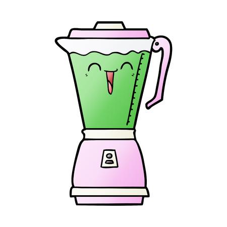 cartoon food processor Vector illustration. Illustration