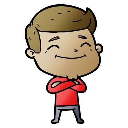 happy cartoon man Illustration