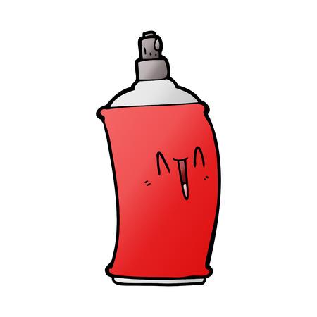 cartoon happy spray can 向量圖像