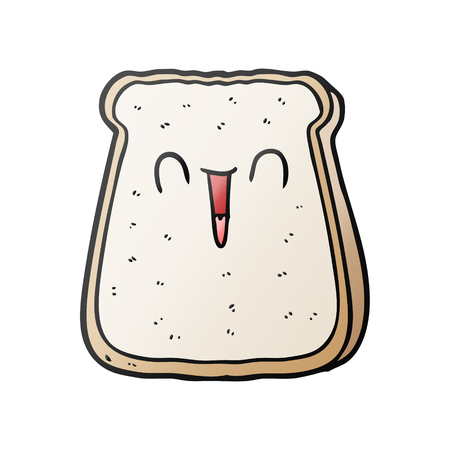 cartoon slice of bread 일러스트