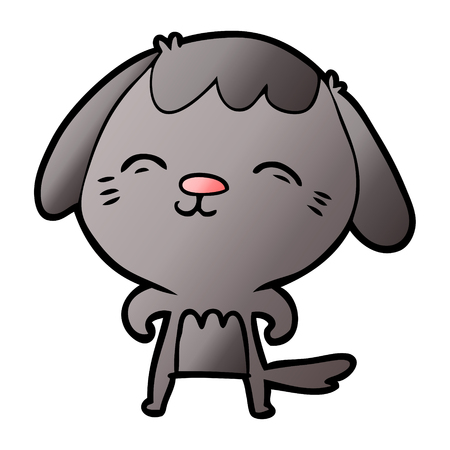 happy cartoon dog Vector illustration. Stockfoto - 95552988