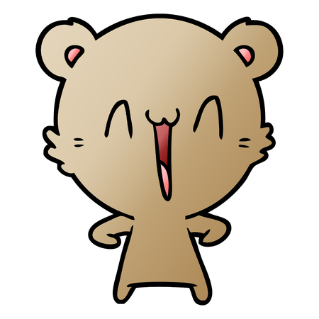 happy bear cartoon