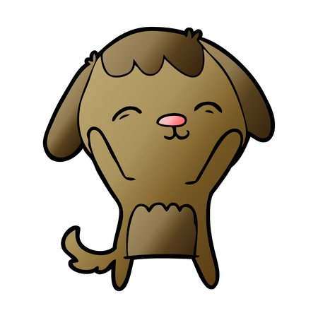 happy cartoon dog Stockfoto - 95535477