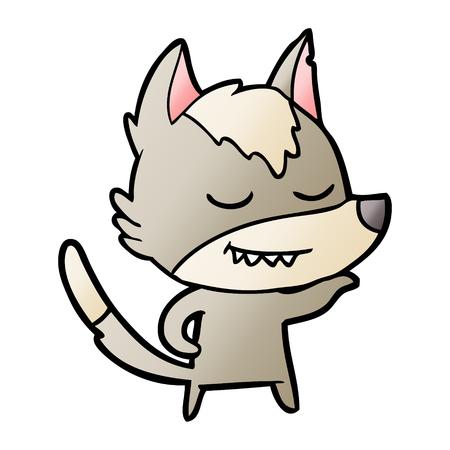 friendly cartoon wolf