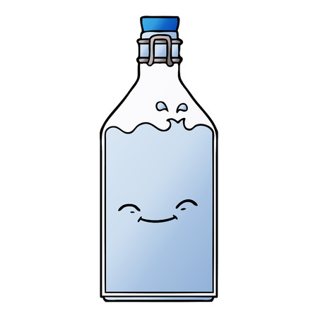 cartoon old water bottle Vector illustration. Illustration