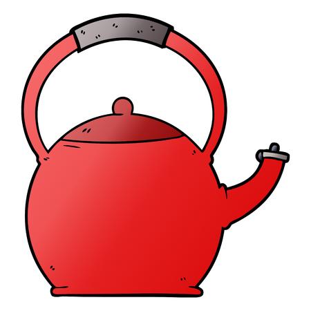 cartoon kettle Vector illustration.