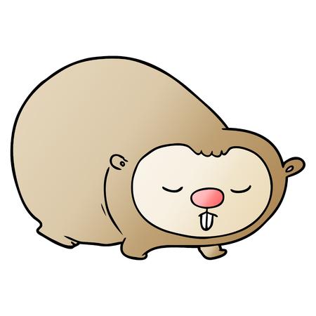 Hand drawn cartoon wombat 向量圖像
