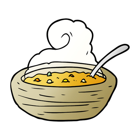 Cartoon hot bowl of broth