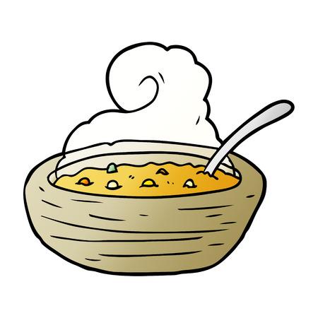 Cartoon hot bowl of broth