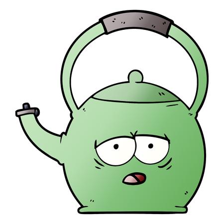 Hand drawn cartoon kettle 写真素材 - 95640352