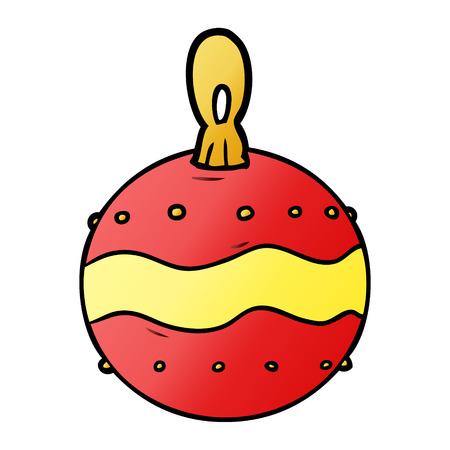 Hand drawn cartoon Christmas bauble decoration