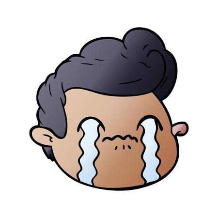 Hand drawn cartoon crying boy Foto de archivo - 95640451