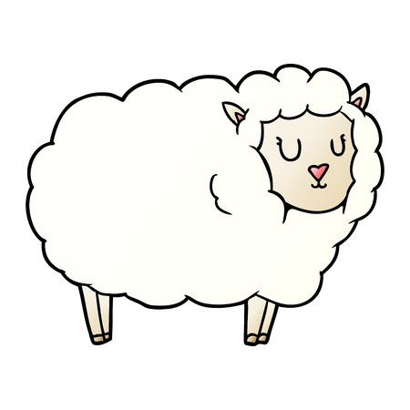 Hand drawn cartoon sheep 일러스트
