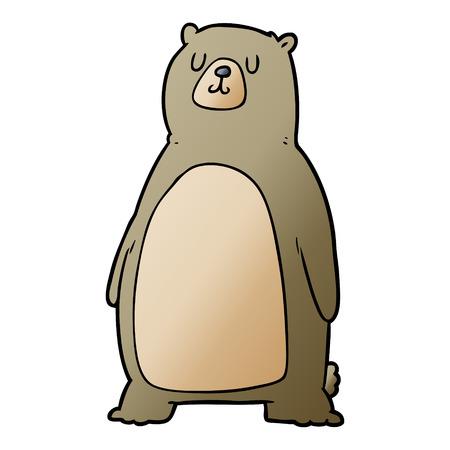 手描き漫画クマ