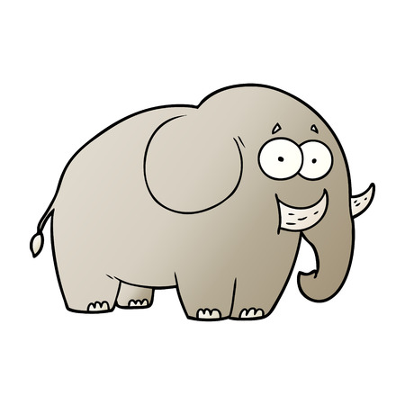 Cartoon elephant surprised