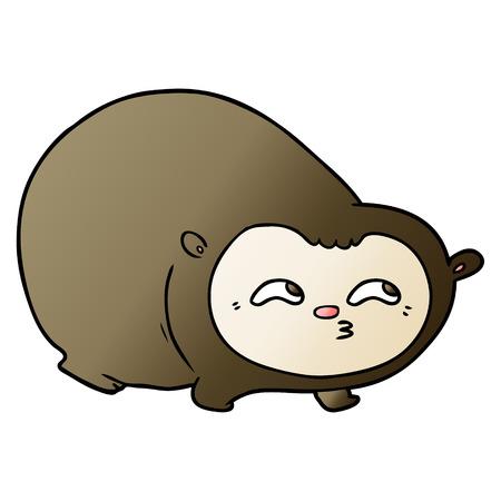 Cartoon wombat illustration