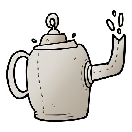 Cartoon alten Metall Wasserkocher Standard-Bild - 95579100