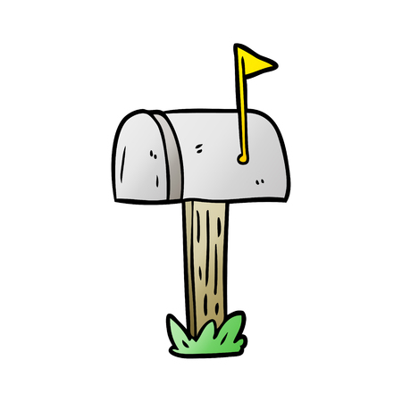 Cartoon mailbox icon