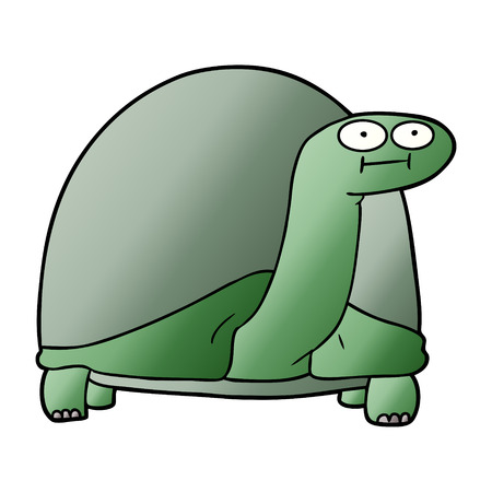 Hand drawn cartoon tortoise
