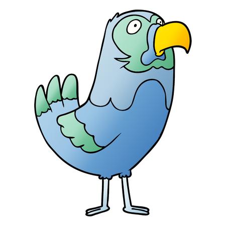 Cartoon parrot illustration