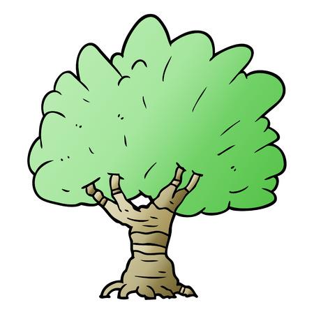 Hand drawn cartoon tree 向量圖像