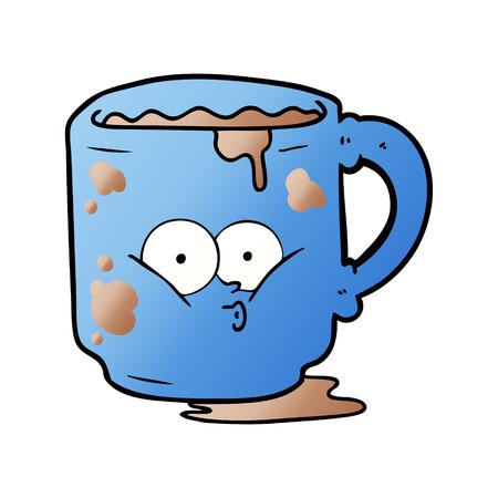 手描き漫画汚いオフィスマグカップ
