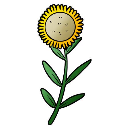 Hand drawn cartoon sunflower 版權商用圖片 - 95640680