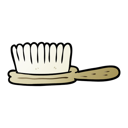 Cartoon hairbrush illustration