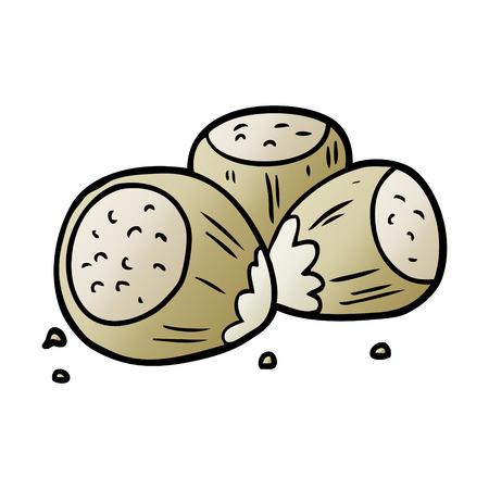 cartoon hazelnuts illustration design. Illustration