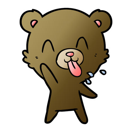 Hand drawn rude cartoon bear