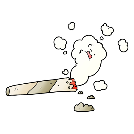 Cartoon rauchende Zigarette Standard-Bild - 95545572