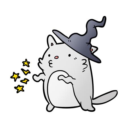 magical amazing cartoon cat wizard