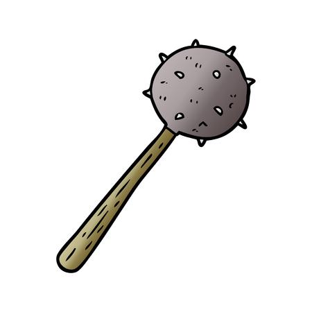 cartoon medieval mace weapon