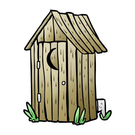 Cartoon traditionelle Außenwerbung mit Halbmond Fenster Standard-Bild - 95545786