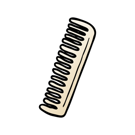 Comb graphic design in cartoon illustration.