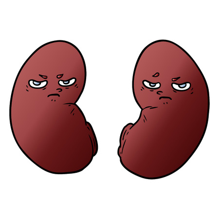 cartoon irritated kidneys
